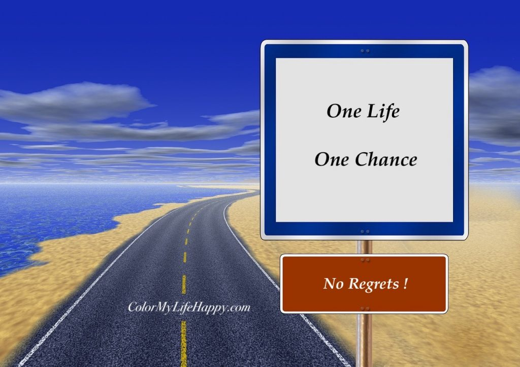 One Life One Chance - No Regrets!